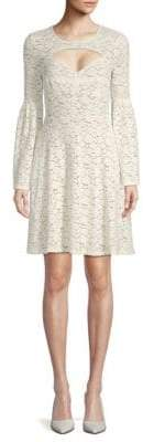 BCBGMAXAZRIA Knit Lace Cut-Out Cocktail Dress