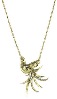 Yochi Clear Crystal Bird Pendent Necklace