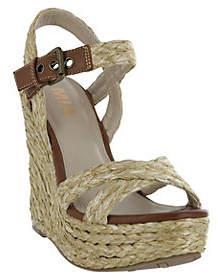 Mia Shoes Platform Wedge Sandals - Leila