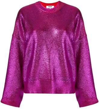 MSGM metallic knit jumper