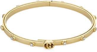 GG Running 18ct Yellow Gold 0.36ct Diamond Bangle