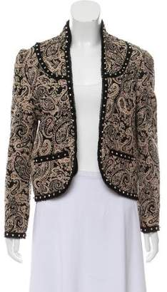 Saint Laurent Quilted Paisley Print Jacket w/ Tags