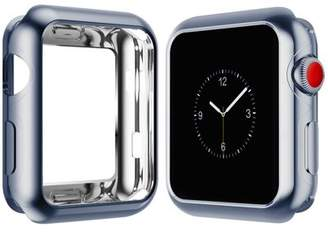 PASBUY 86C Flexible Electroplate Protector case for Apple Watch Series 3 2 1 (42mm Gray)