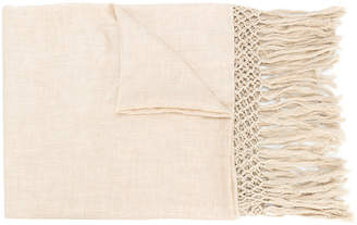Twin-Set fringe embroidered scarf