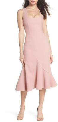 Dress the Population Monica Tea Length Trumpet Dress