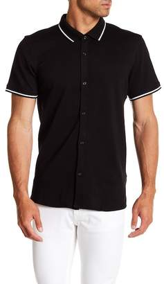 Kenneth Cole New York Tipped Short Sleeve Regular Fit Shirt