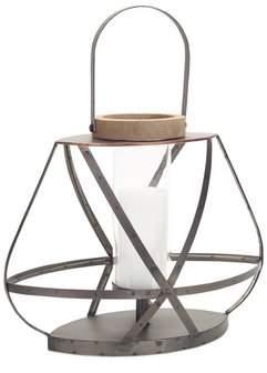 Melrose Intl. Open Metal/Wood/Glass Lantern