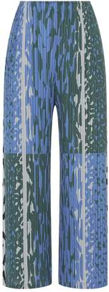 Pleats Please Printed Cropped Trousers