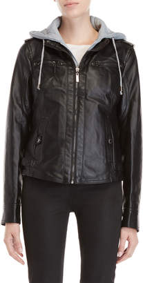 Joujou Jou Jou Faux Leather Hoodie Jacket