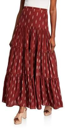 Johanna Ortiz Canoe Print Maxi Dress