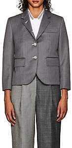 Thom Browne WOMEN'S WOOL CROP THREE-BUTTON BLAZER