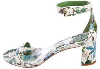 Tory Burch Floral Ankle-Strap Sandals