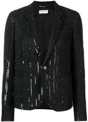 Saint Laurent sequin embellished blazer