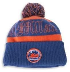Marcelo Burlon County of Milan Men's New York Mets Pom-Pom Beanie - Orange Multi