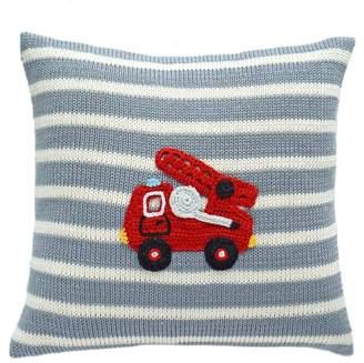 Harriet Bee Summers Fire Truck Cotton Throw Pillow