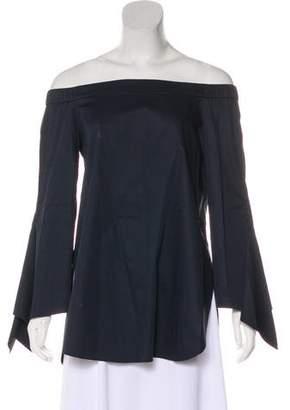 Tibi Asymmetrical Off-Shoulder Top