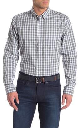 Nordstrom Long Sleeve Gingham Print Slim Fit Shirt