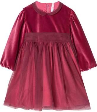 Il Gufo Dark Pink Newborn Dress Kids In