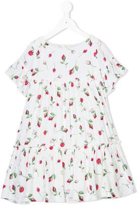 MonnaLisa floral printed tiered dress