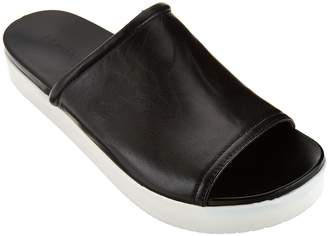 Halston H By H by Leather Slide-On Platform Shoes - Martha