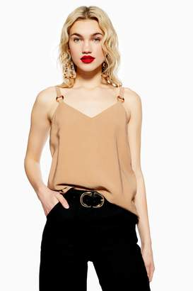 Topshop Womens Ring Camisole Top - Camel