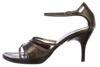 CNC Costume National Leather Ankle Strap Sandals