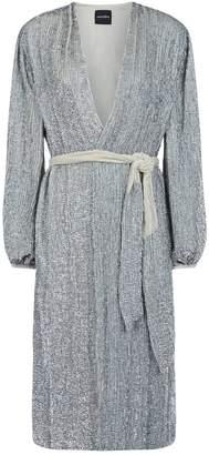 retrofete Audrey Sequin Wrap Midi Dress