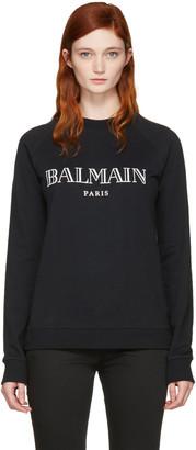 Balmain Black Logo Pullover $530 thestylecure.com
