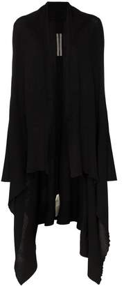 Rick Owens long sleeve wool draped cardigan