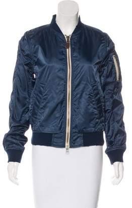 Closed Bomber Zip-Up Jacket