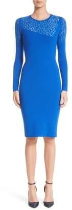 Versace Contrast Stitch Knit Dress