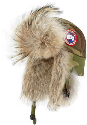 Canada Goose Coyote-Fur Aviator Hat $250 thestylecure.com