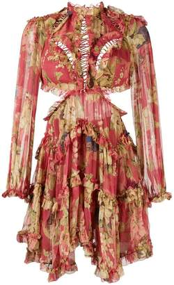 Zimmermann floral print ruffle dress