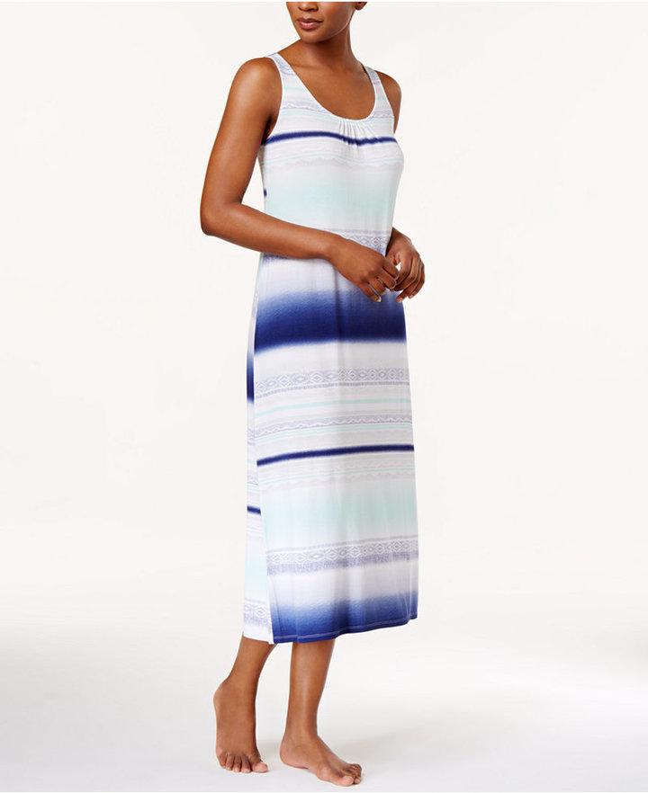 AlfaniAlfani Striped Knit Nightgown, Only at Macy's
