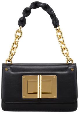 Tom Ford Maxi Chain Large Leather Shoulder Bag