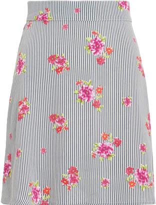 Flynn Skye Floral Striped Mini Skirt