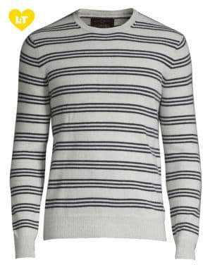 Black & Brown Black Brown Balanced-Stripe Cashmere Sweater