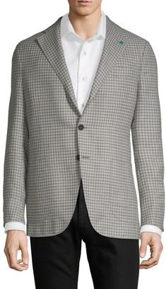 eidos Plaid Wool Jacket