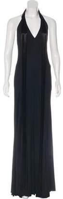 Ralph Lauren Purple Label Halter Maxi Dress Black Halter Maxi Dress