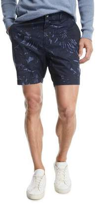 Michael Kors Tropical Print Cotton-Stretch Shorts