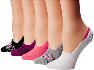 Betsey Johnson 5-Pack Footie with Floral Women's Crew Cut Socks Shoes