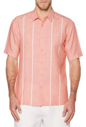 Cafe Luna Big Men's Short Sleeve Panel Woven Shirt