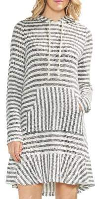 Vince Camuto Striped Hooded Dress