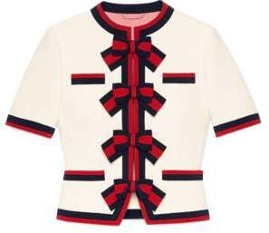 Gucci Wool jacket with Web bows