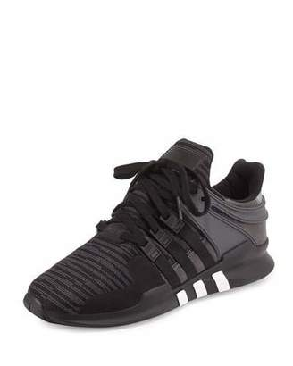 Adidas Men's EQT Support ADV Sneaker, Black/Gray $110 thestylecure.com