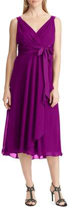 Chaps Georgette Fit--Flare Dress
