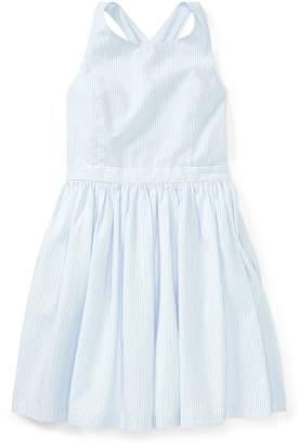 Ralph Lauren Seersucker Crossback Dress