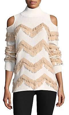 Zoa Zoë Jordan Zoë Jordan Women's High Hawking Fringed Sweater