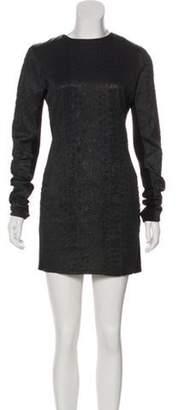 Kimberly Ovitz Textured Bodycon Dress Black Textured Bodycon Dress