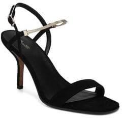 Diane von Furstenberg Frankie Black Sandals